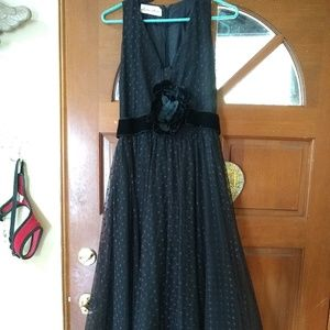 Vintage 1950' Lillie Rubin black lace ball gown